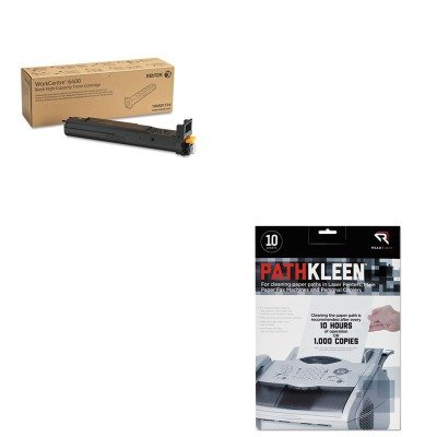 KITREARR1237XER106R01316 - Value Kit - Xerox 106R01316 High-Yield Toner (XER106R01316) and Read Right PathKleen Printer Roller Cleaner Sheets (REARR1237)