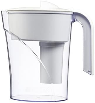 White Brita 6 Cup Classic BPA Free Water Pitcher with 1 Filter