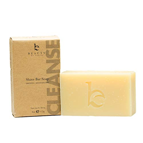 Organic Bar Soap for Shaving, Natural Soap, Shaving Soap for Men & Women, Mens Soap for Face, Foamy Lathering Vegan Soap Works As Shaving Cream, Organic Soap With Shea Butter (1 pack)