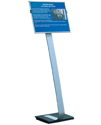 DURABLE Infobase Duo Aluminum Floor Sign Stand for 11-Inch x 17-Inch Inserts (481523)