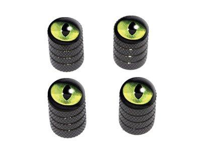 Gato Verde Ojos - borde de los neumáticos válvula Stem Caps - negro: Amazon.es: Coche y moto