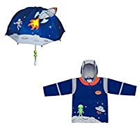 Kidorable Space Hero Rain Coat- (12-18 Months) Blue