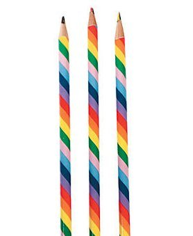 (Dozen Wooden Rainbow Pencils)