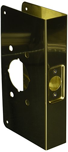 Brass Wrap Around Plate (Don-Jo 4500-CW 22 Gauge Stainless Steel Mortise Lock Wrap-Around Plate, Polished Brass Finish, 4-3/4