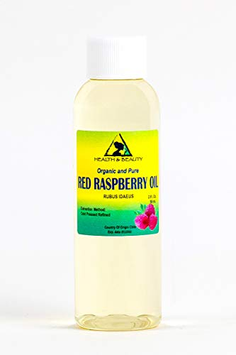 Red Raspberry Seed Oil Refined Organic Cold Pressed by H&B Oils Center Natural Fresh 100% Pure 2 oz