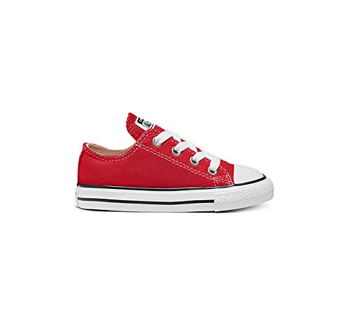 Converse Unisex-Child Chuck Taylor All Star  Low Top Sneaker, red, 6 M US Toddler (Shoes Size Converse 6)
