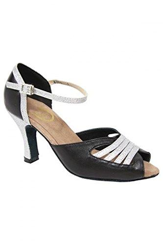 Argenté Diana de danse Noir de salon Chaussures RoTate Xtwf00