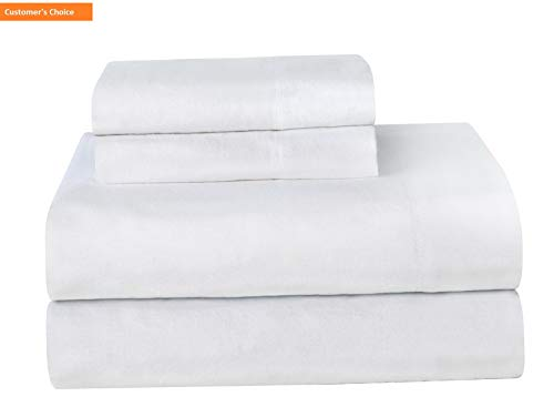 Mikash New Soft Ultra Soft Flannel Sheet Set with Pillowcase, Twin, White   Style - Futon Madrid Cover