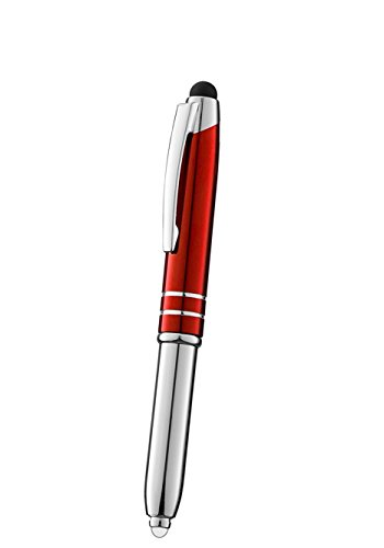 (SyPen Stylus Pen for Touchscreen Devices, Tablets, iPads, iPhones, Multi-Function Capacitive Pen With LED Flashlight, Ballpoint Ink Pen, 3-In-1 Metal Pen, 1PK,)