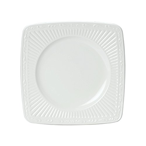 Mikasa Italian Countryside Square Salad Plate, 7.75-Inch (Plate Italian Countryside Square Dinner)
