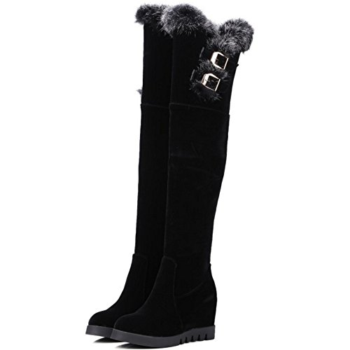 Knee Long Black Winter Women Over Taoffen Warm Zip Snow Boots npq8txRvxw