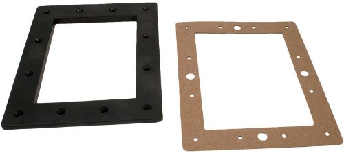- Pentair 516324 Black Standard Throat Face Plate Replacement Kit Bermuda Gunite and Vinyl Liner Skimmer