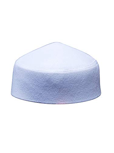 d3e13be9625 TheKufi Solid White Moroccan Fez-Style Kufi Hat Cap w Pointed Top (XL