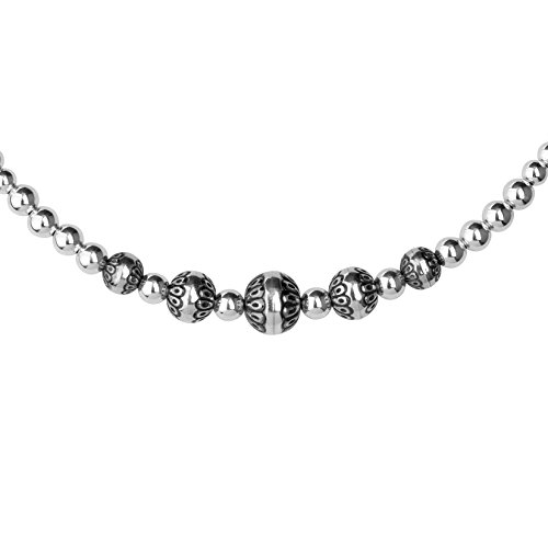 American West Sterling Silver Native Pearl Choker Necklace by American West