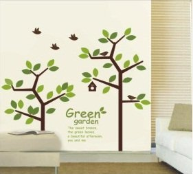 Amazon.com: Simplifestyle Baby Nursery Wall Decoration Green Tree ...