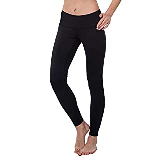 LOVESOFT Womens High Waist Leggings, Ankle Length Solid Color, Soft and Strench, Basic Yoga Pants for Workout Casual Black