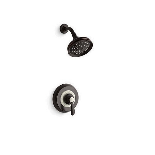 Kohler TS12014-4-2BZ K-TS12014-4-2BZ Fairfax Rite-Temp Shower Valve Trim with Lever Handle and 2.5 gpm showerhead Oil-Rubbed Bronze