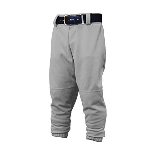 EASTON Youth PRO PULL UP Baseball Softball Pant | 2020 | Grey | Youth Medium | Drawstring Waistband | Batting Glove Back Pocket | Elastic Bottom Opening | 100% ()