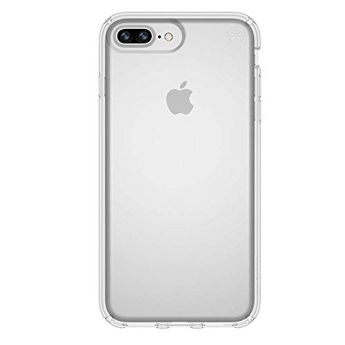 Speck Products Presidio Clear Case for iPhone 8 Plus (Also fits 7S/7 Plus and 6S/6 Plus), Clear/Clear - Fit Case Phone