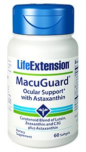 Life Extension Macuguard Ocular Support Plus Astaxanthin, 60 softgels