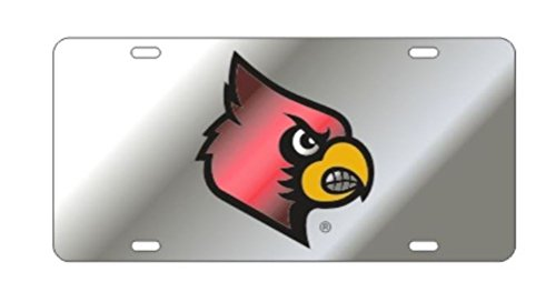 The University of Louisville Mascot on Silver Laser Cut Inlaid Mirror ()
