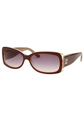 Givenchy SGV688-06UP Women's Rectangle Burgundy Sunglasses