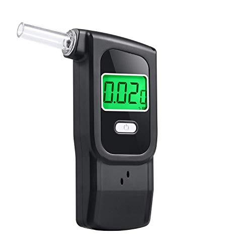 - Alcohol Breathalyzer, Portable Breathalyzer, Semiconductor Alcohol Tester for Personal Use with 5 Replaceable Mouthpieces