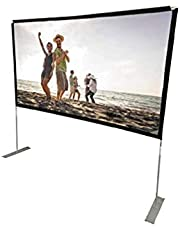 RCA RPJ144 Indoor/Outdoor 100-Inch-Diagonal Portable Projector Screen (Renewed)