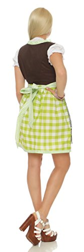 Courtes Multicolore Fashion4young Vert Robe 38 Femme marron Manches Vert qIqF7zwE