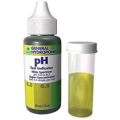 General Hydroponics pH Test Indicator Control Kit 1oz - up Down Wide Spectrum
