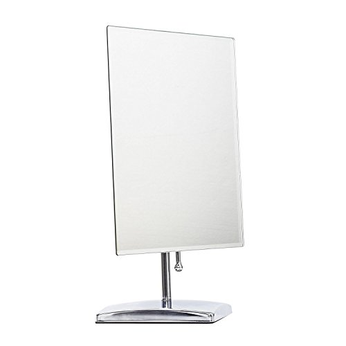 LEJU Makeup Mirror, Adjustable Rectangular Luxury Tabletop Makeup Mirror (Pedestal Makeup Mirror)