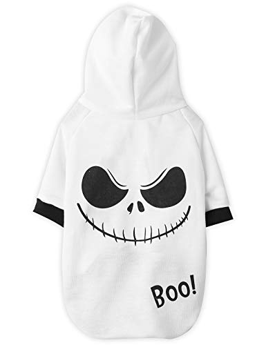Cat Dog Halloween Costume (Coomour Dog Halloween Hoodies Pet Cute Ghost Costume Outfit for Dogs Cats Puppy T-Shirt Clothes)