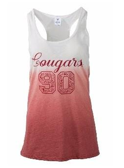 Official NCAA Washington State University Cougars WSU Tri Cities Women's Ombre Racerback Tank Top