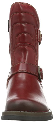 FLY FLY London London Femme Orange Red Sven731fly Bottes 004 Courtes r5rTqSnx