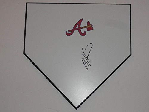 Tim Hudson Signed Home Plate Atlanta Braves Autographed Hof - MLB Autographed Miscellaneous Items