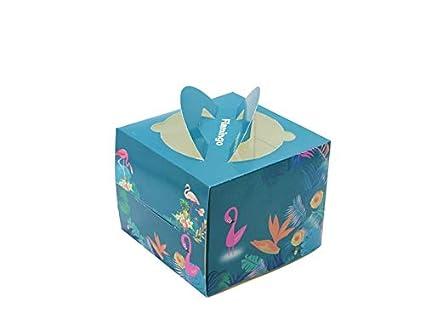 HOUHOUNNPO Cajas para Pasteles, Caja de empaque Cuadrada de 4 Pulgadas para Hacer Mousse de