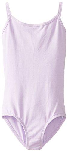 Clementine Apparel Girls' Big (7-16) Camisole Leotard Cami Top Spaghetti Strap Ballerina Dancewear Costumes, Lilac, 12-14