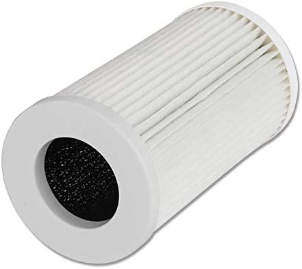 QUEENTY True HEPA Filter  Replacement Air Purifier Filter Odor Allergies Eliminator for Smoke Mold