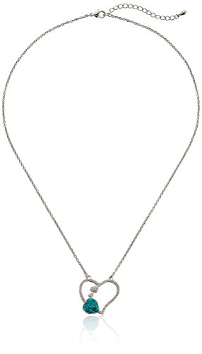 Austrian Crystal Heart Pendant Necklace, 18 Inches (Erinite Green) (Necklace Austrian Heart Crystal Pendant)
