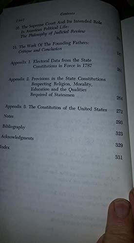 The philosophy of the American Constitution - a reinterpretation of the intentions of the Founding Fathers