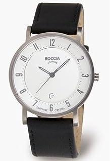 5c8a75dfe1 Amazon | 3755 – 02 Boccia Titaniumメンズクロノグラフ腕時計 | メンズ ...
