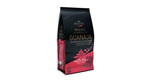 Valrhona Dark Chocolate - 70% Guanaja - 6 lbs 9 oz, 3 Bags