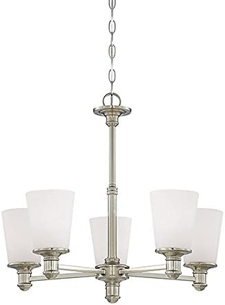 Millennium 2155-SN Five Light Chandelier, Pwt, Nckl, B S, Slvr