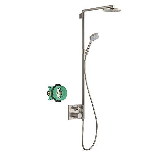 Hansgrohe KS27192-01850BN-2 Raindance S 180 Showerpipe with Rough-In, Brushed Nickel (Showerpipe Raindance 180)