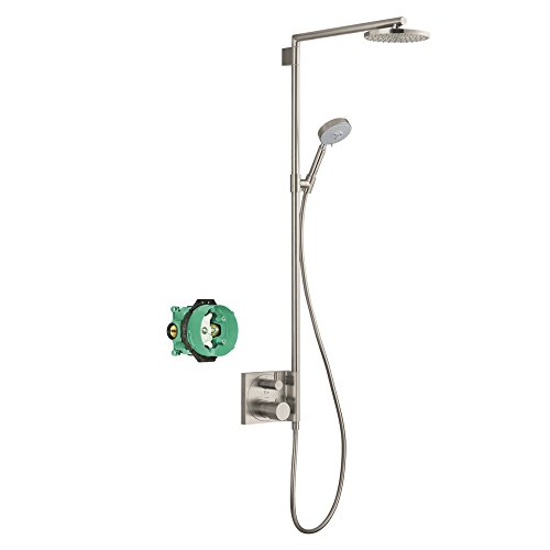 Hansgrohe KS27192-01850BN-2 Raindance S 180 Showerpipe with Rough-In, Brushed Nickel