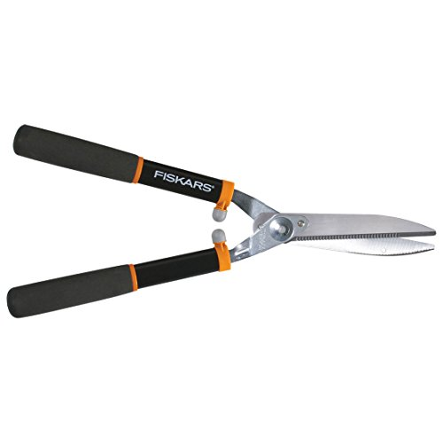 Fiskars Power Lever 8-Inch Hedge Shears With Soft Grip Handle