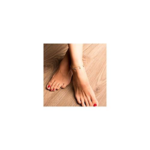 Mevecco Gold Dainty Evil Eye Tassel Anklet for Women,14K Gold Plated Cute Tiny Beaded Protection Drop Boho Evil Eye Dangle Beach Foot Chain Ankle Bracelet for Teen Girls