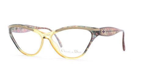 Christian Dior 2649 60 Green and Yellow Authentic Women Vintage Eyeglasses - Glasses Prescription Dior 2013