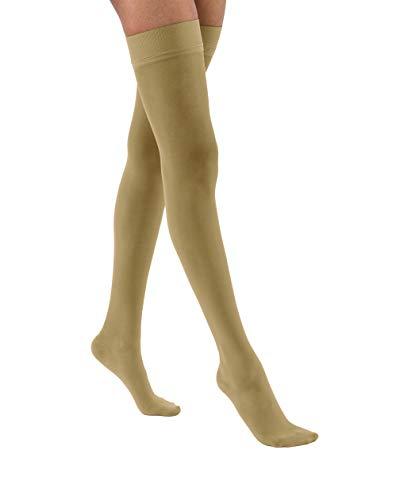 Jobst Ultra Sheer Thigh High - JOBST Ultra Sheer Thigh Closed Toe Socks, Silky Beige, Medium