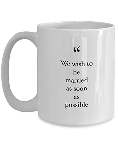 Animation Movie Coffee Mug - We Wish To Be Married As Soon As - Movies Soundtrack Song Lyrics Fairy Tale Mermaid Princess Adventure Cartoon 15 Oz (Best Way To See Epcot)